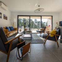 Salon dans Villa à Cala Rossa