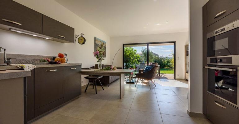 Sitting room in villa Porto-vecchio South Corsica