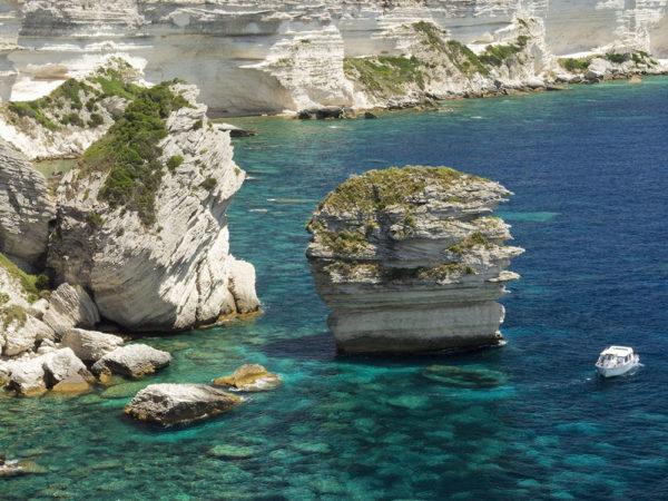 Les falaises à Bonifacio Sud Corse